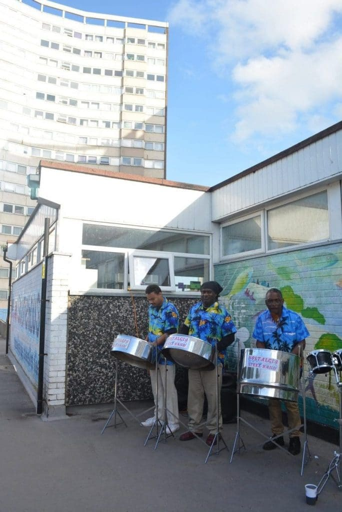 Steel band at Better Queensway regeneration launch event