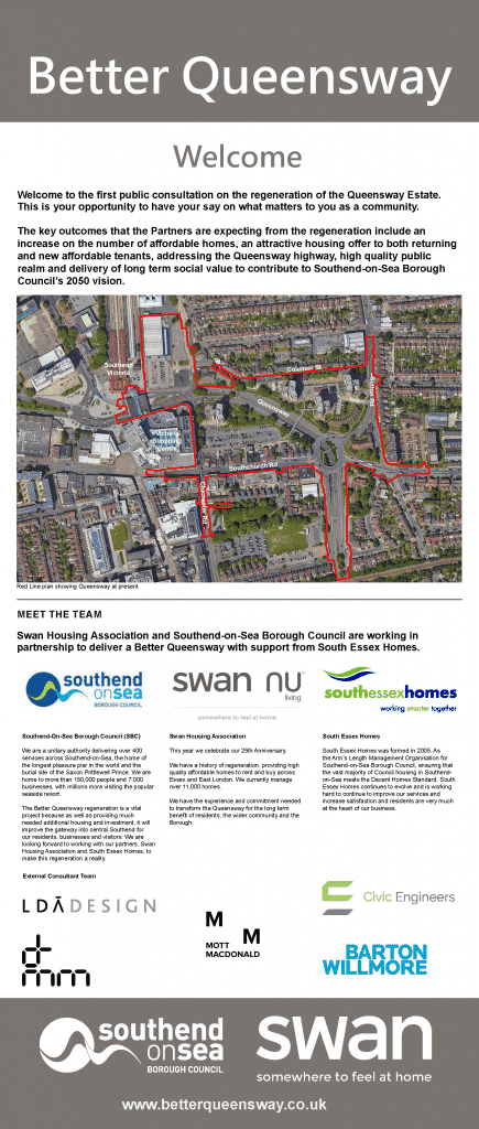 Better Queensway Consultation Board 1 - Welcome