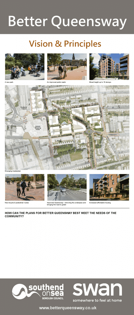 Better Queensway Consultation Board 3 - Vision and Principles