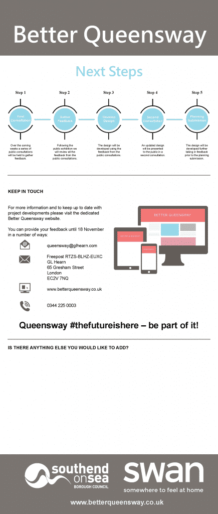 Better Queensway Consultation Board 8 - Next Steps
